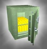 заполненный сейф золота Стоковое Изображение RF
