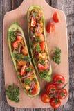 заполненный zucchini Стоковые Изображения RF