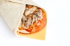 заполнять крена мяса lavash Стоковая Фотография RF