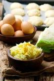 Заполнять пирога и капусты vareniki Стоковые Фотографии RF