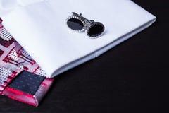 Запонки для манжет, стиль, аксессуар moda Стоковая Фотография