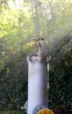 Запорный клапан для того чтобы закрыть газ газопровода который проходит Стоковое Изображение