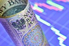 Заполированность банкнота 100 злотых Стоковое Фото