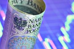 Заполированность банкнота 100 злотых Стоковое фото RF