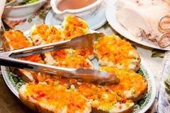 Заполненная притворная плита картошки Стоковая Фотография