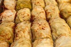 заполненное мясо капусты Стоковые Фото