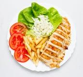 Заполненное филе цыпленка Стоковые Изображения