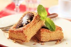 Заполненное шоколадом печенье слойки Стоковые Изображения RF