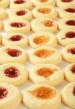 Заполненные вареньем печенья shortbread Стоковое Изображение RF