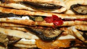 Заполненные гиганты tortillas баклажана и перцев традиционного Ita Стоковое фото RF