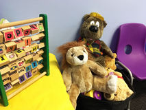Заполненные игрушки медведя и льва Стоковое Фото