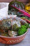 Заполненные листья мангольда Стоковые Фото