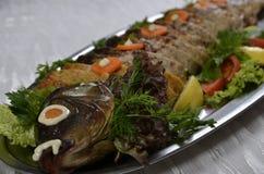 Заполненные части крена рыб Стоковое Фото