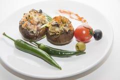 Заполненные champignons с chili Стоковые Изображения