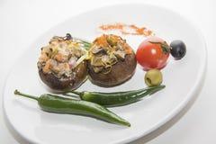 Заполненные champignons с chili Стоковое Изображение