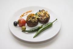 Заполненные champignons с chili Стоковые Фото