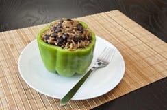 Заполненный зеленый перец Стоковое Изображение