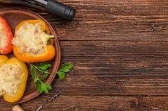 заполненный перец мяса Стоковое фото RF