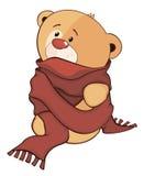 Заполненный шарж новичка медведя игрушки Стоковая Фотография