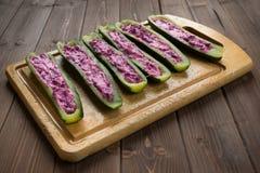 Заполненный zucchini Стоковые Фото