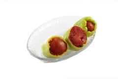 3 заполненных перца с томатом Стоковое Изображение
