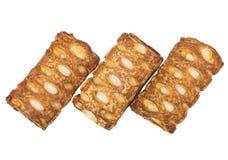 3 заполненных печенья изолированного на белой предпосылке Стоковое Изображение