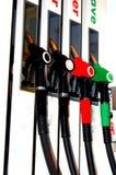 Заполните вверх бензозаправочную колонку Стоковая Фотография