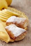 2 заполнили сладостные плюшки хлеба Стоковое Изображение