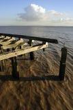 запревать пристани деревянный Стоковое Изображение RF