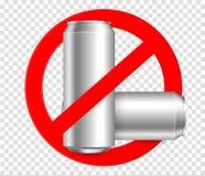 Запретите бутылку Отсутствие бутылок metall отсутствие засаривая предупредительного знака бесплатная иллюстрация