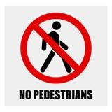 Запретите знак пешеходного перехода, пешеходного знака запрета crosswalk иллюстрация вектора