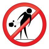 Запретите знак людей пукать Стоковые Изображения