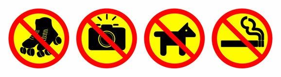 запретите знак стоковое фото