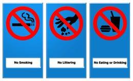 запретите знак стоковое изображение