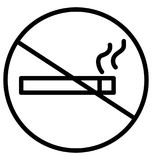 Запретите курить или для некурящих изолированная пользу значка вектора для проектов перемещения и путешествия бесплатная иллюстрация