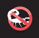 Запретите символ скорпиона бесплатная иллюстрация