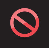 Запретите символ иллюстрация штока