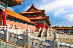 Запретный город Китая Пекина - старая китайская династия стоковые фото