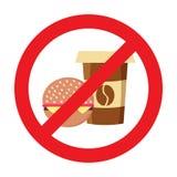 Запрет еды, никакая еда или напиток не позволили знаку бесплатная иллюстрация