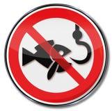 Запрет запрета для удить иллюстрация штока