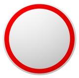 Запрет, запрещенное ограничение, отсутствие enty знака КРАСНЫЙ КРУГ иллюстрация штока