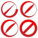 Запрет, знак ограничения Красный цвет никакой вход, не вписывает знаки бесплатная иллюстрация