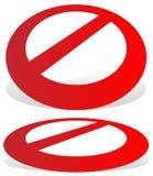 Запрет, знак ограничения Красный цвет никакой вход, не вписывает знаки иллюстрация вектора