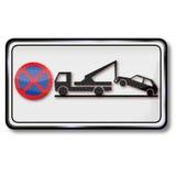 Запрет и трейлер автостоянки Стоковое Фото