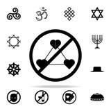 Запрет на значке прелюбодеяния Комплект значков вероисповедания всеобщий для сети и черни бесплатная иллюстрация