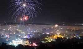 Запрет на шутихах Diwali в столице Индии Стоковые Изображения