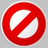 Запрет, ограничение Красный цвет забастовк-через дорожные знаки Красный цвет делает иллюстрация штока