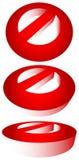 Запрет, ограничение Красный цвет забастовк-через дорожные знаки Красный цвет делает Стоковое Изображение RF
