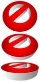 Запрет, ограничение Красный цвет забастовк-через дорожные знаки Красный цвет делает Стоковая Фотография RF