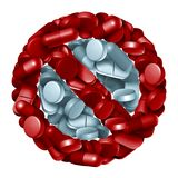 Запрет отпускаемых по рецепту лекарств иллюстрация вектора